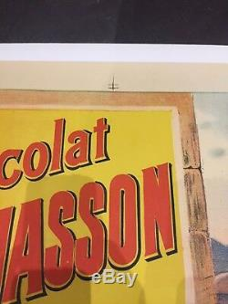 Affiche originale lithographie publicité chocolat Pailhasson Lourdes 1920