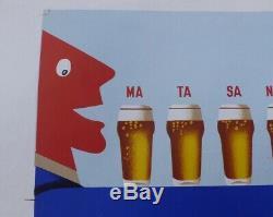 Affiche originale par HERVE MORVAN Bière Bock KARCHER