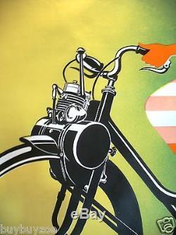 Affiche originale poster SOLEX VELOSOLEX 120x160cm entoilée René RAVO 1953 -1964