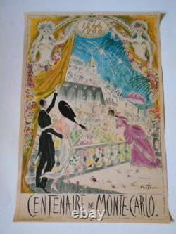 Affiche originale pour le centenaire de Monte-Carlo par Beaton