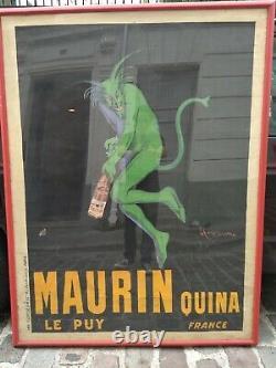 Affiche originale vintage Cappiello Maurin 1906
