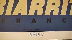 Affiche pub Biarritz, Pays basque 1960 par ERIC