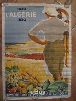 Affiche publicité agricole-ALGERIE 1930
