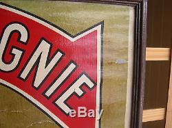 Affiche publicitaire SINGER sur zinc des années30