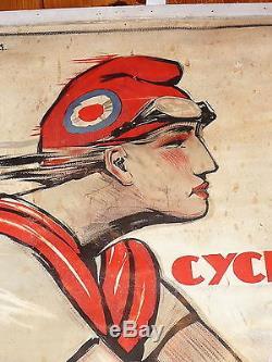 Affiche publicitaire ancienne Signée G FAVRE 1909 La Française Diamant