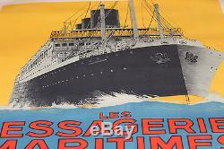 Affiche publicitaire bateau les messageries maritimes signée Sandy Hook 1925