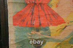 Affiche publicitaire originale atelier Chéret 1900 Saxoleine