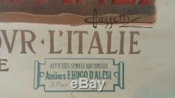 Affiche publicitaire touristique ROME CUSSETTI Hugo d'Alési ITALIE Italia