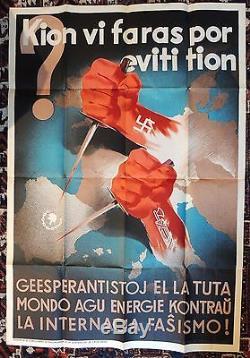 Affiche rare, Comissariat de Propaganda de la Generalitat de Catalunya, 1936-37