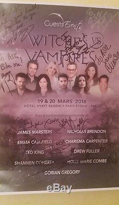 Affiche signée par certains acteurs des séries Buffy et Charmed