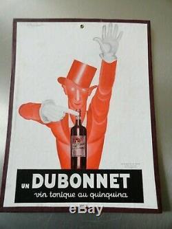 Affiche sur carton ancienne originale. DUBONNET L. CAPPIELLO 1930 Collection