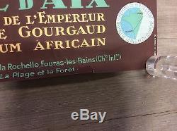 Affiche touristique ancienne ile d aix Charente maritime 1 mètre /0.63m