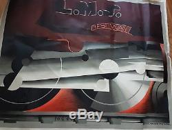 Affiche vintage ancienne publicitaire LMS Bestway Adolphe Mouron-Cassandre