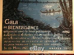 Affiches ancienne originale coloniale sur l'Afrique