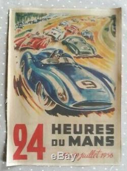 Affichette original 24 heures du Mans 1956