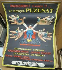 Agriculture PUZENAT BOURBON LANCY rare affichette d'intérieur illustrée par MICH