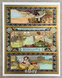 Alfons MUCHA Lithographie Mélange Italien pour Lefèvre-Utile / 1900 État Top