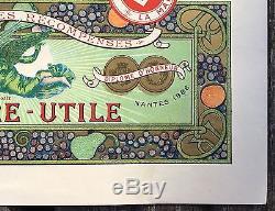 Alfons Mucha Rare planche Table d'Hôte pour les Biscuits Lefèvre-Utile / LU