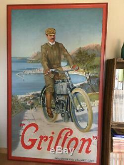 Ancien Moto Griffon ancien affiche 1904