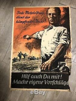 Ancienne Affiche Allemande WW2 Guerre