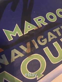 Ancienne Affiche Cie de Navigation PAQUET (Maroc) Signé VIANO