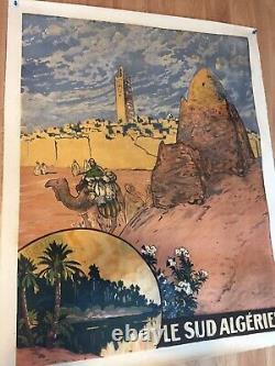 Ancienne Affiche Entoilée Le Sud Algérien