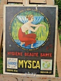 Ancienne Affiche Publicitaire Cartonnée Mysca Savon Vers 1925