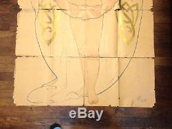Ancienne Grande affiche vintage art nouveau artiste meridionaux