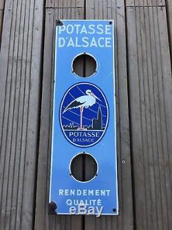 Ancienne Plaque Emaillée POTASSE DALSACE thermometre pub -no bidon tole affiche