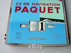 Ancienne Pub Cie Navigation PAQUET calendrier perpétuel paquebot France Afrique