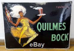 Ancienne Quilmes Bock Plaquee Publicitaire Annes 1925 Jean D'ylan