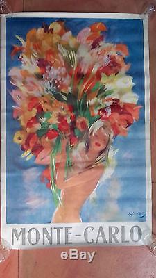 Ancienne affiche Jean Gabriel Domergue imprimerie nationale Monaco Monte Carlo