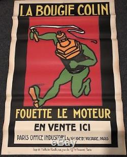 Ancienne affiche LA BOUGIE COLIN 120X80