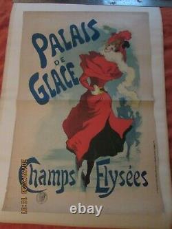 Ancienne affiche, PALAIS DE GLACE-champs élysées-jules CHERET-40,8 X60,3 cm