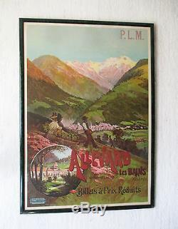 Ancienne affiche PLM originale Allevard les Bains Grenoble Chambéry Belledonne