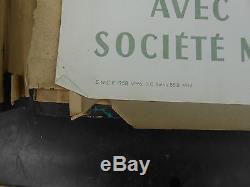 Ancienne affiche chemin de fer francaise cote d azur 1958
