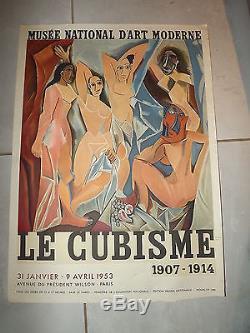 Ancienne affiche exposition 1953- LE CUBISME musée national d'art moderne