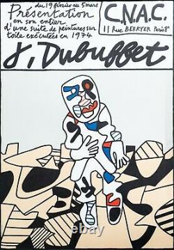 Ancienne affiche old poster Jean DUBUFFET Paris 1974 CNAC