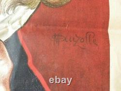 Authentique grande affiche 140/100 de 1905 publicitaire M. AUZOLLE
