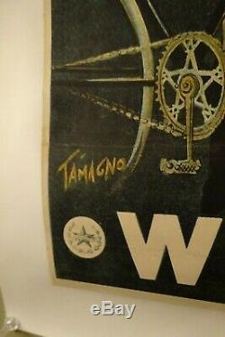 BELLE AFFICHE ANCIENNE VELO ANCIEN WONDER signée TAMAGNO