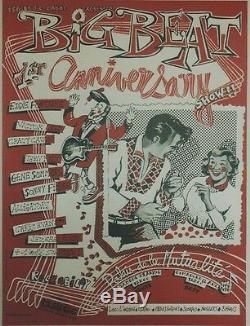 BIG BEAT / 1st ANNIVERSARY SHOW 1981 Affiche originale entoilée 43x56cm