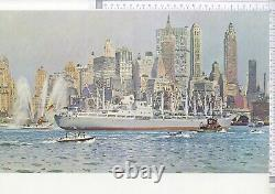 BRENET MORAN TUGBOATS TOW LINE MANHATAN NEW YORK HARBOR circa 1960-70
