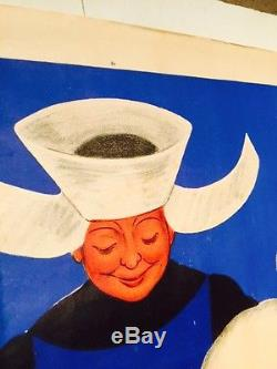 Belle affiche ancienne Cuisinière baudin par Cappiello infirmiere