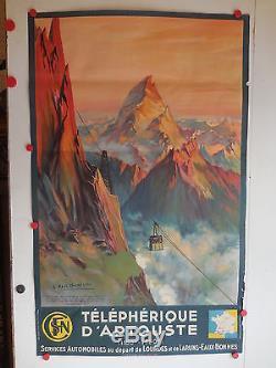 Belle affiche ancienne tourisme telepherique d Artouste SNCF par Champseix