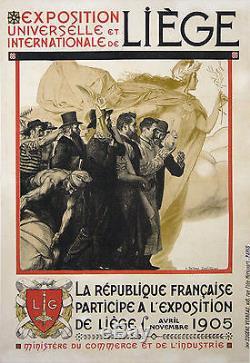 Bellery Desfontaines Affiche Ancienne Exposition Universelle De Liege 1905