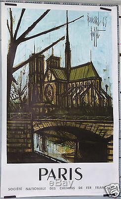 Bernard Buffet Affiche Ancienne 1963 Sncf Notre Dame De Paris