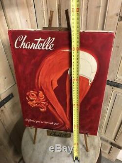 Bernard VILLEMOT Affiche Publicité Ancienne Chantelle Poster Sous Vêtements Pub