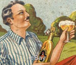 Bière Graff Frères à Rennes / Panonceau Lithographié Bière Bretonne / Maybon