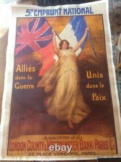 Bouisset Firmin Affiche Emprunt London Western Westiminster Ww1 1920