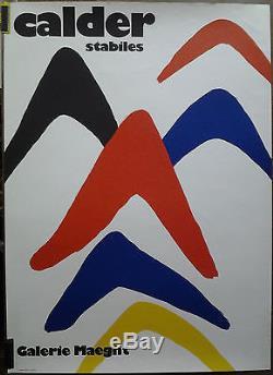 CALDER Stabiles Galerie Maeght AFFICHE ORIGINALE ANCIENNE/PR12